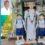 செய்துங்கநல்லூர் அருகே ஓலையில் பள்ளி குழந்தைகள் சிலை பனை தொழிலாளி அசத்தல்