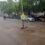 செய்துங்கநல்லூர் சுற்றுவட்டாரப்பகுதியில் ஒருமணி நேரம் இடியுடன் கூடிய பலத்த மழை.